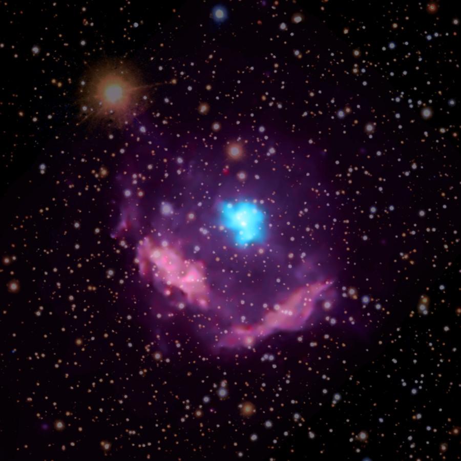 Chandra помог определить возраст самого молодого пульсара Млечного пути