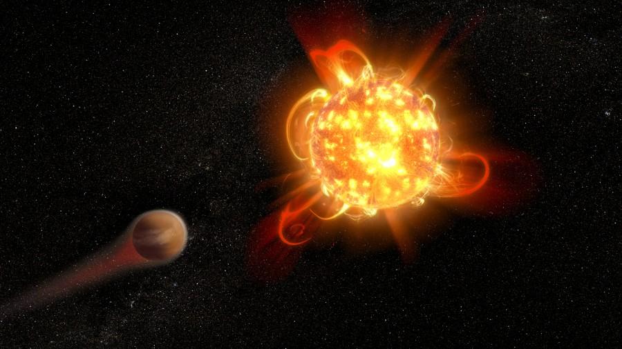 «Хаббл» зафиксировал мощные вспышки у новорожденных красных карликов