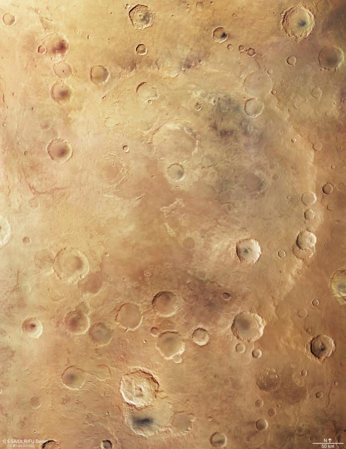 Кратер Грили глазами аппарата Mars Express Грили, системы, является, Express, Кратер, кратера, Солнечной, структур, составляет, глубина, всего, подобного, Находящемуся, марсианской, размера, плоским, меркам, много, ударных, видно