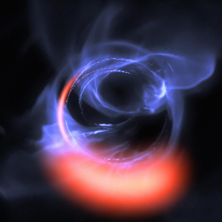Ученые выполнили наиболее подробные наблюдения вещества вблизи черной дыры