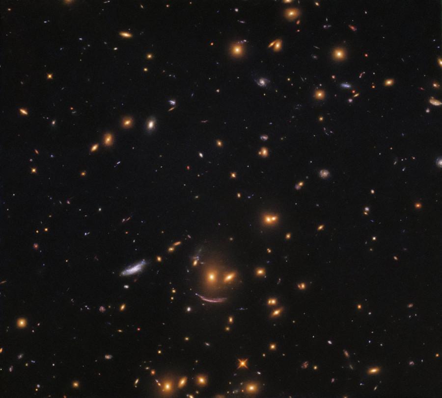 «Хаббл» сфотографировал улыбающиеся галактики