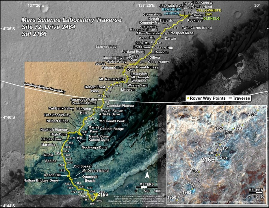 Марсоход Curiosity возобновил движение