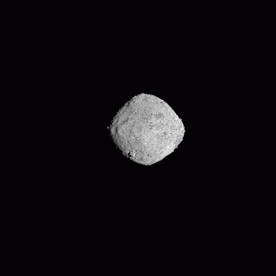 Астероид Бенну в 300 пикселях
