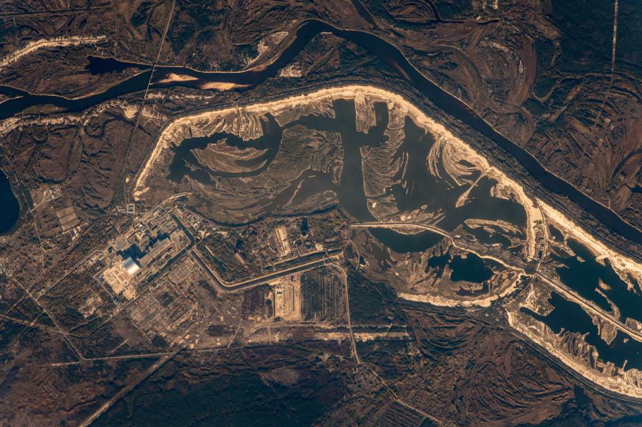 Чернобыль из космоса