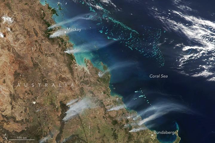 Лесные пожары на севере Австралии