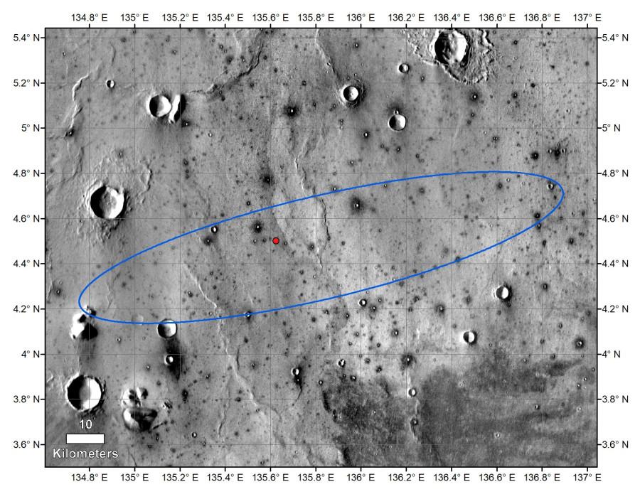 MRO сфотографировал InSight на марсианской поверхности