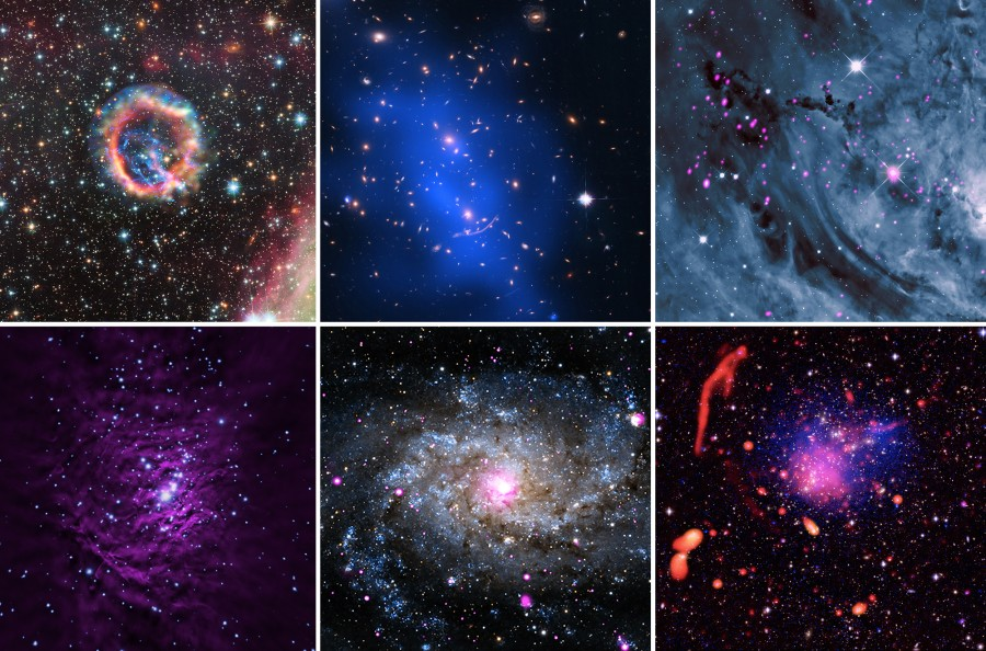 Объекты дальнего космоса от Chandra