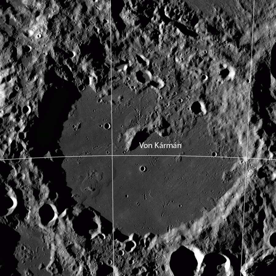 LRO сфотографировал кратер Карман