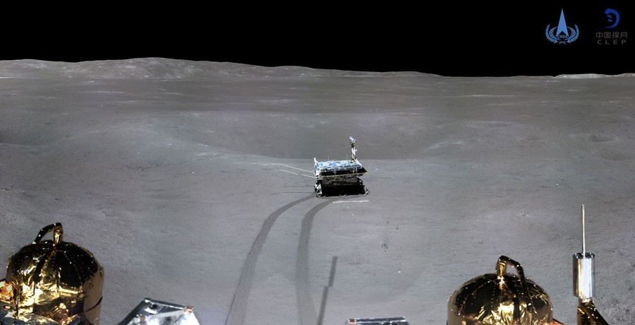 Опубликовано первое панорамное изображение с обратной стороны Луны
