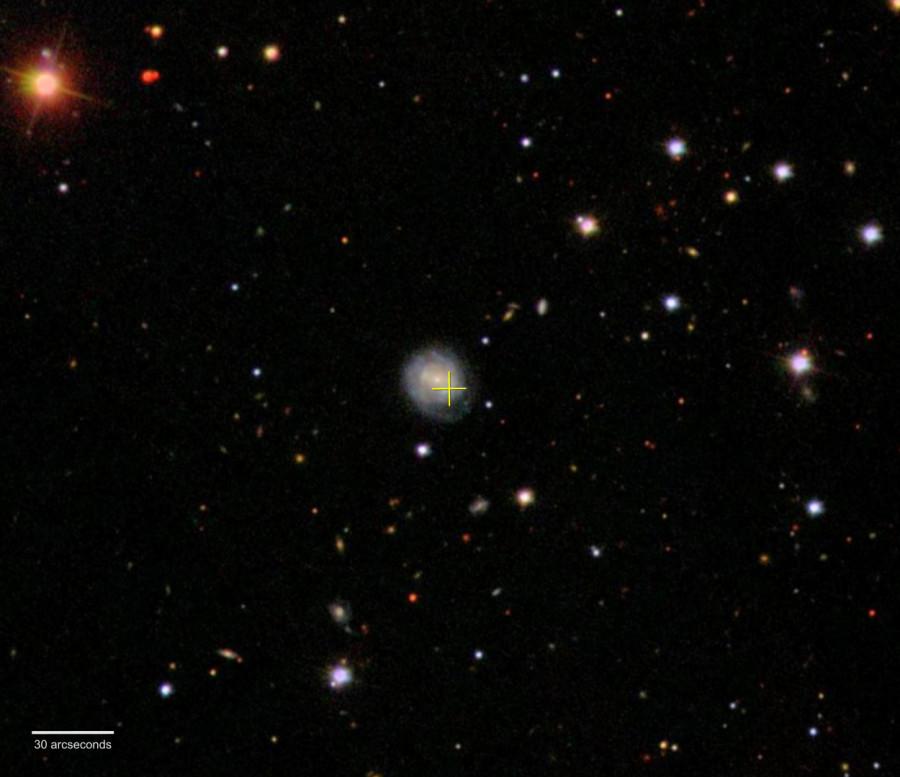 Загадочная вспышка в далекой галактике могла быть вызвана рождением черной дыры