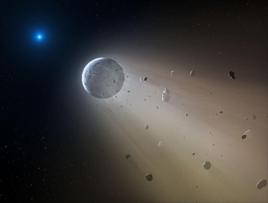 Астрономы обнаружили разрушающуюся экзопланету