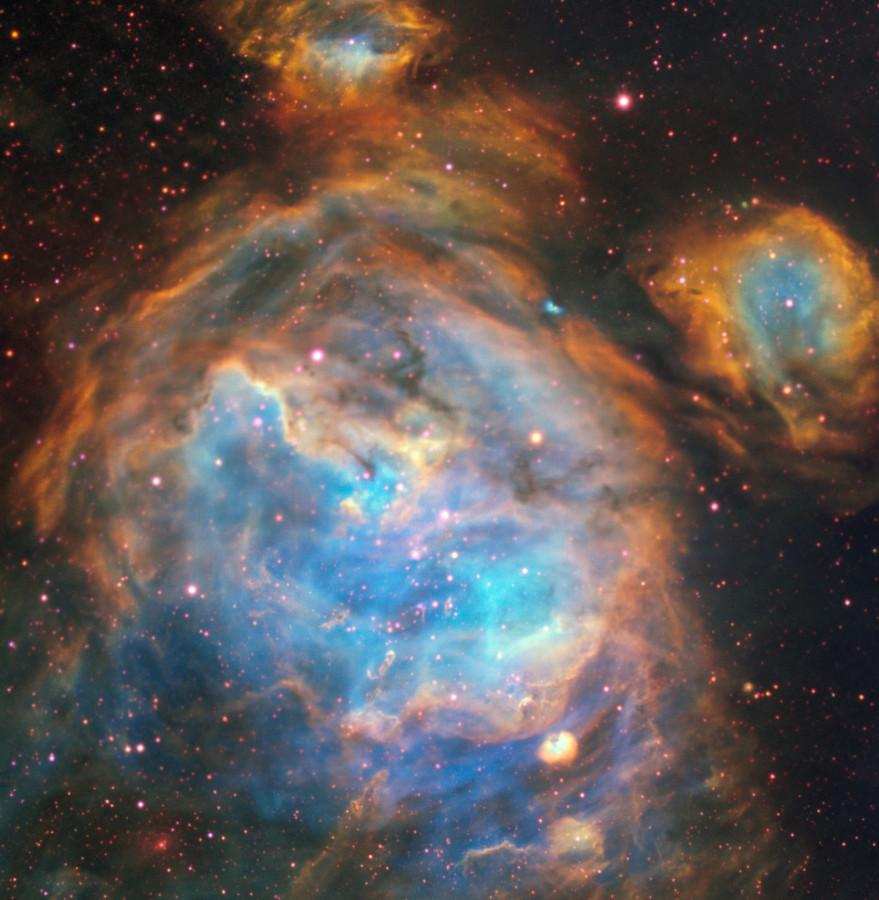 Очень Большой Телескоп сфотографировал джет молодой звезды в соседней галактике