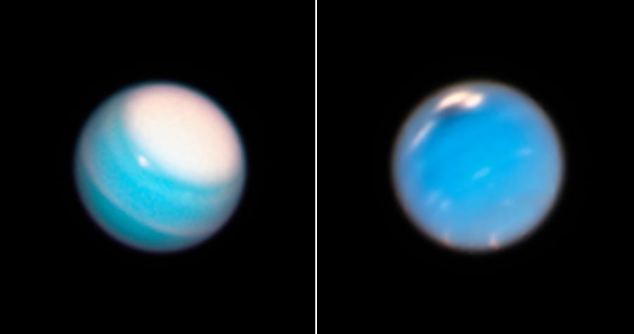 «Хаббл» сфотографировал шторма Урана и Нептуна
