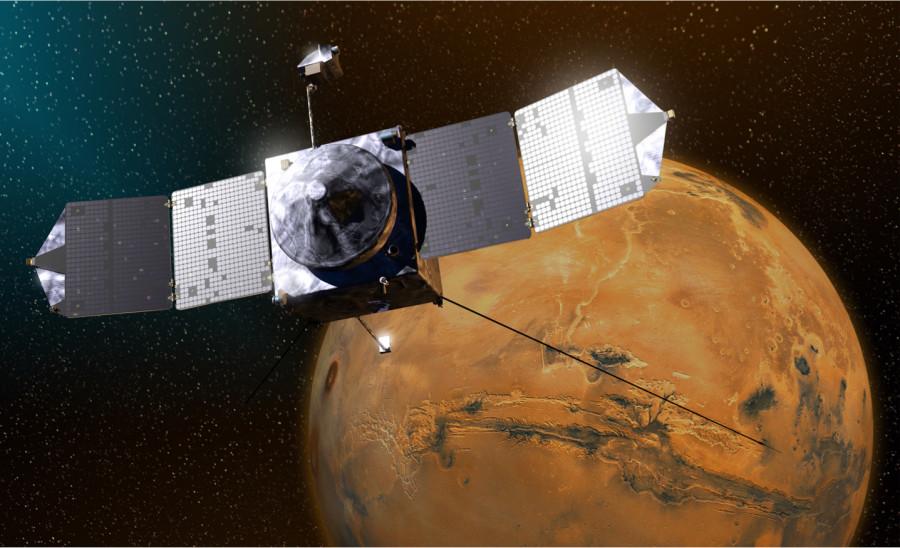Аппарат MAVEN приступил к изменению орбиты