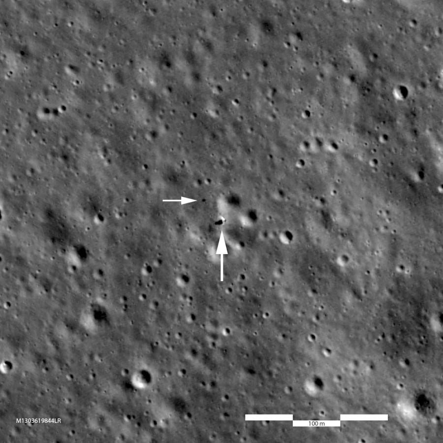 LRO снова сфотографировал «Чанъэ-4»