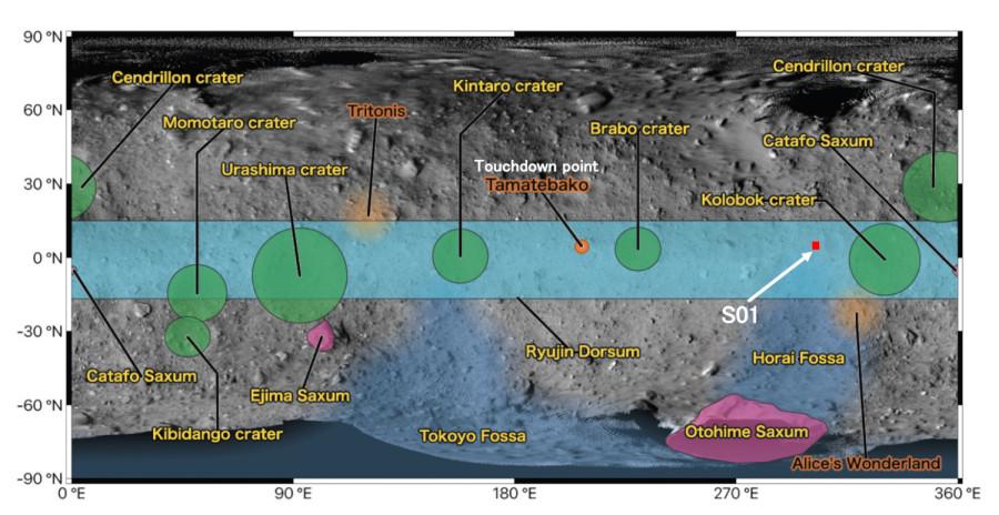 «Хаябуса-2» навестила регион S01 «Хаябуса2», поверхности, марта, вещества, сближение, образца, результате, взрыва, миссии, конструкторов, октагена, замыслу, образуется, искусственный, образовавшуюся, воронку, изучит, дальнейшем, кратер, взрывчатого