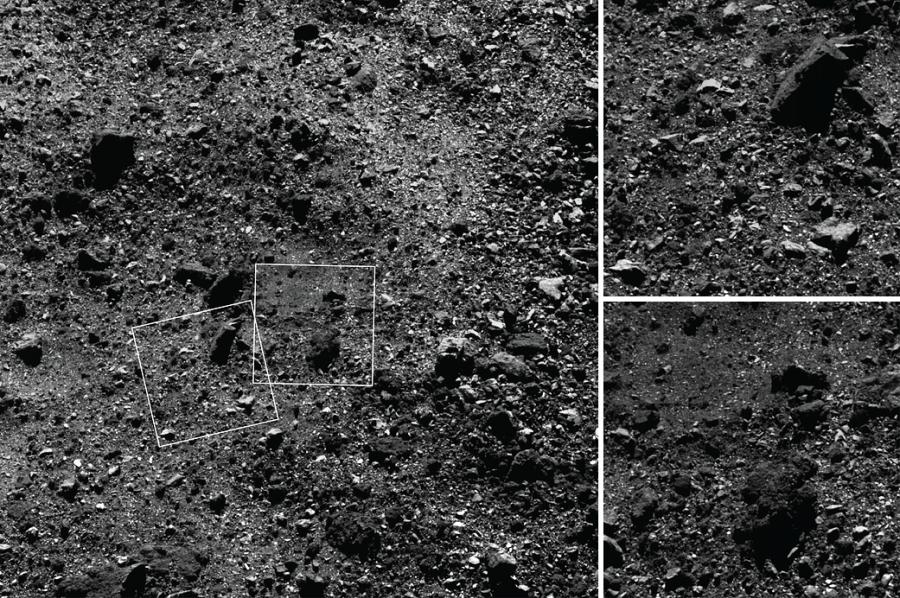 OSIRIS-REx нашел перспективный участок на поверхности астероида Бенну