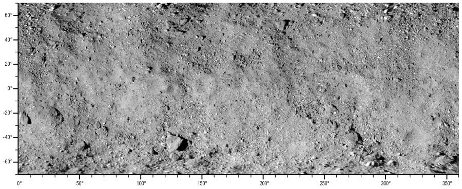 Опубликована глобальная карта астероида Бенну