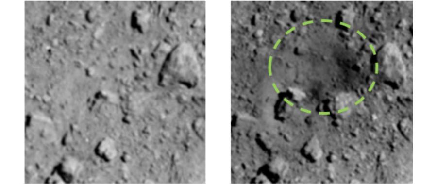 «Хаябуса-2» сфотографировала место попадания импактора SCI