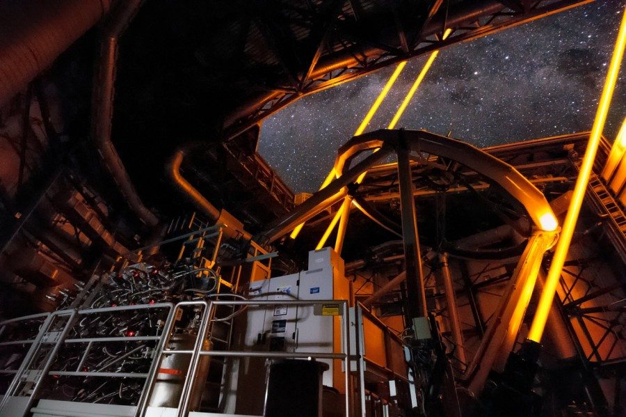 The Very Large Telescope obtained Neptune's ultra-high-resolution images, telescope, system, telescope, adaptive, optics, GALACSI, made, Hubble, get, composition, stars, clusters, new, turbulence, almost, resolution, quality, visual, example