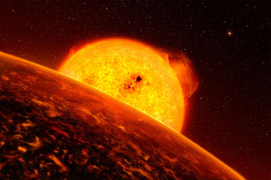 Астрономы нашли железо и титан в атмосфере экзопланеты