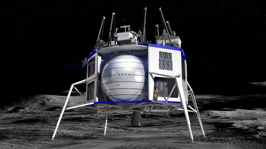 Blue Origin показала аппарат для высадки ну Луну