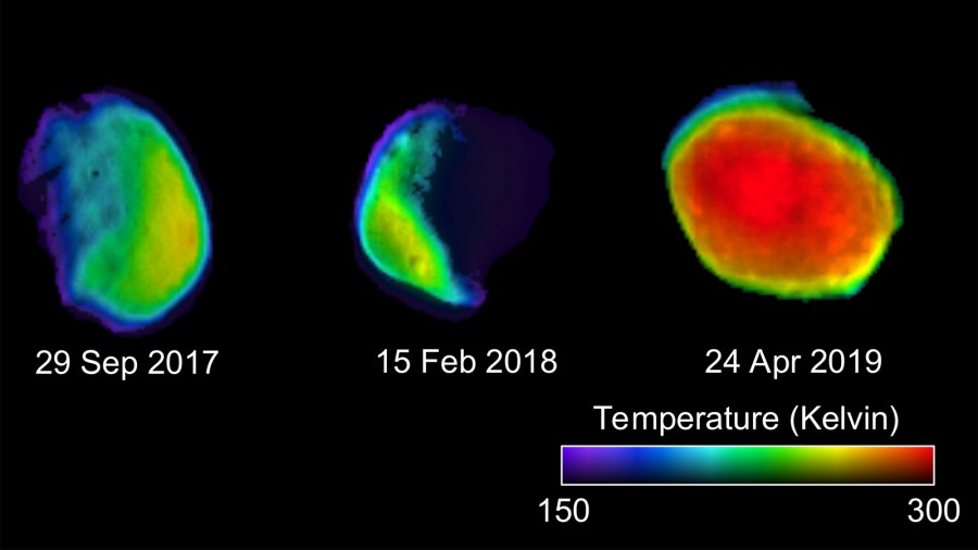 Mars Odyssey измерил температуру дневной стороны Фобоса