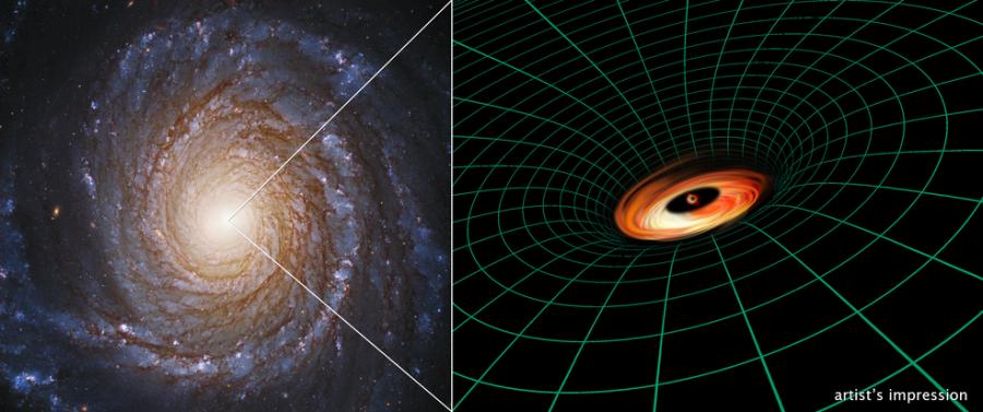 «Хаббл» обнаружил аккреционный диск у неактивной черной дыры