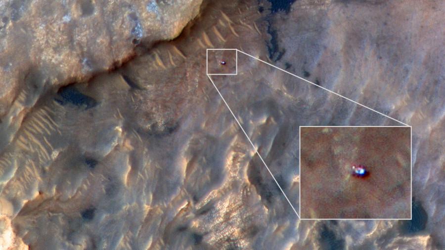 MRO сделал новую фотографию Curiosity