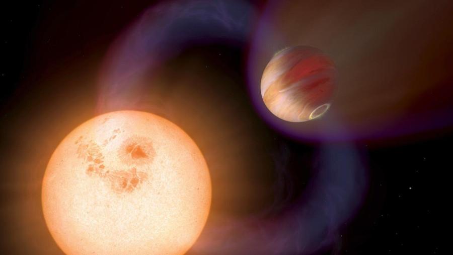 Ученые оценили мощность магнитных полей горячих юпитеров