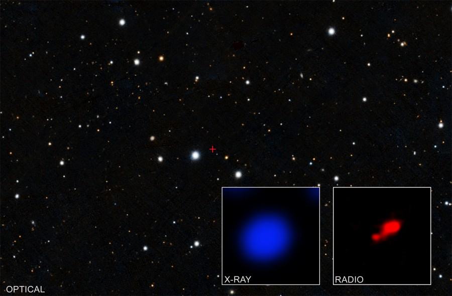 Chandra обнаружил следы «спрятанного» квазара в ранней Вселенной