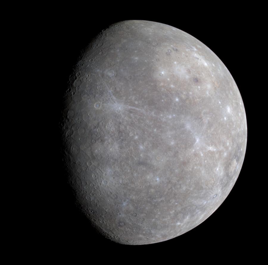Данные MESSENGER указали на сдвиг магнитных полюсов Меркурия