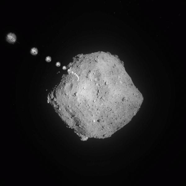 «Хаябуса-2» сбросил пару целеуказателей на астероид Рюгу.