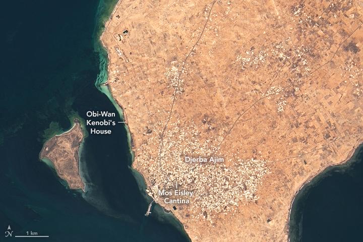 Съемочные локации «Звездных войн» из космоса