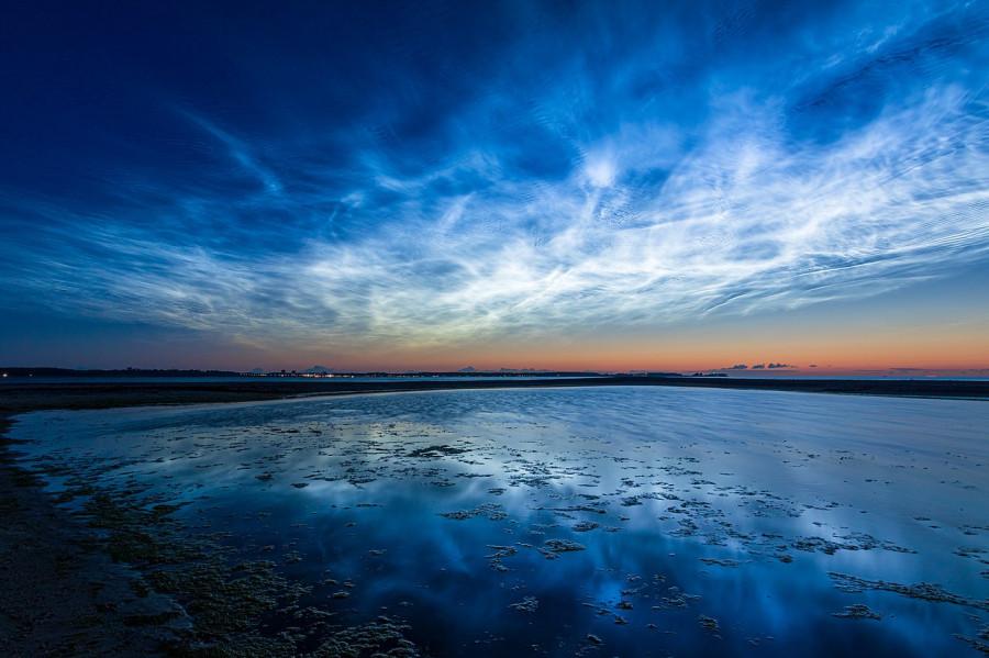 Cеребристые облака над Дорсетом