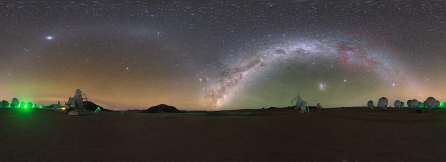 Противосияние в небе над плато Чахнатор