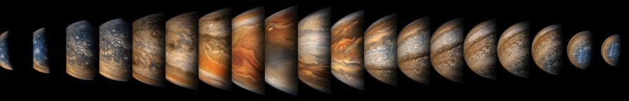 Лучшие снимки восьмой встречи с Юпитером аппарата«Юнона»