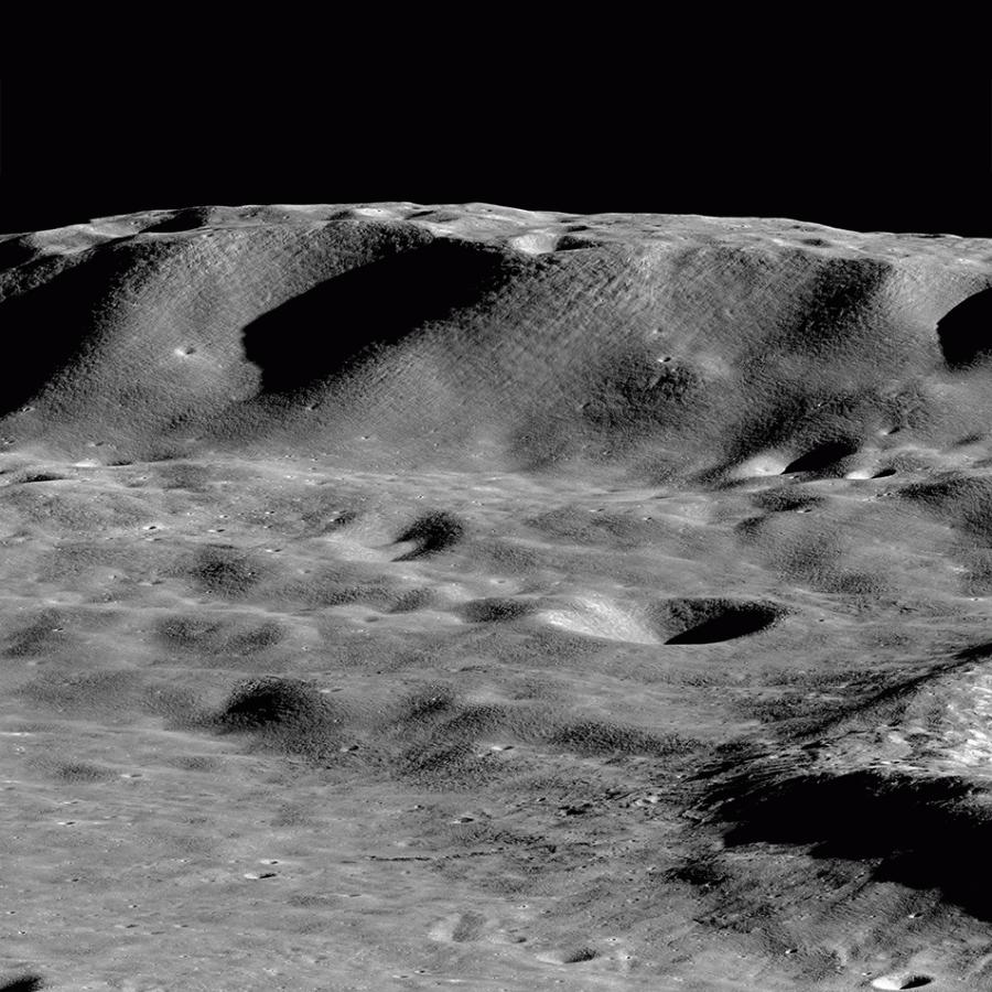 Вал кратера Зееман