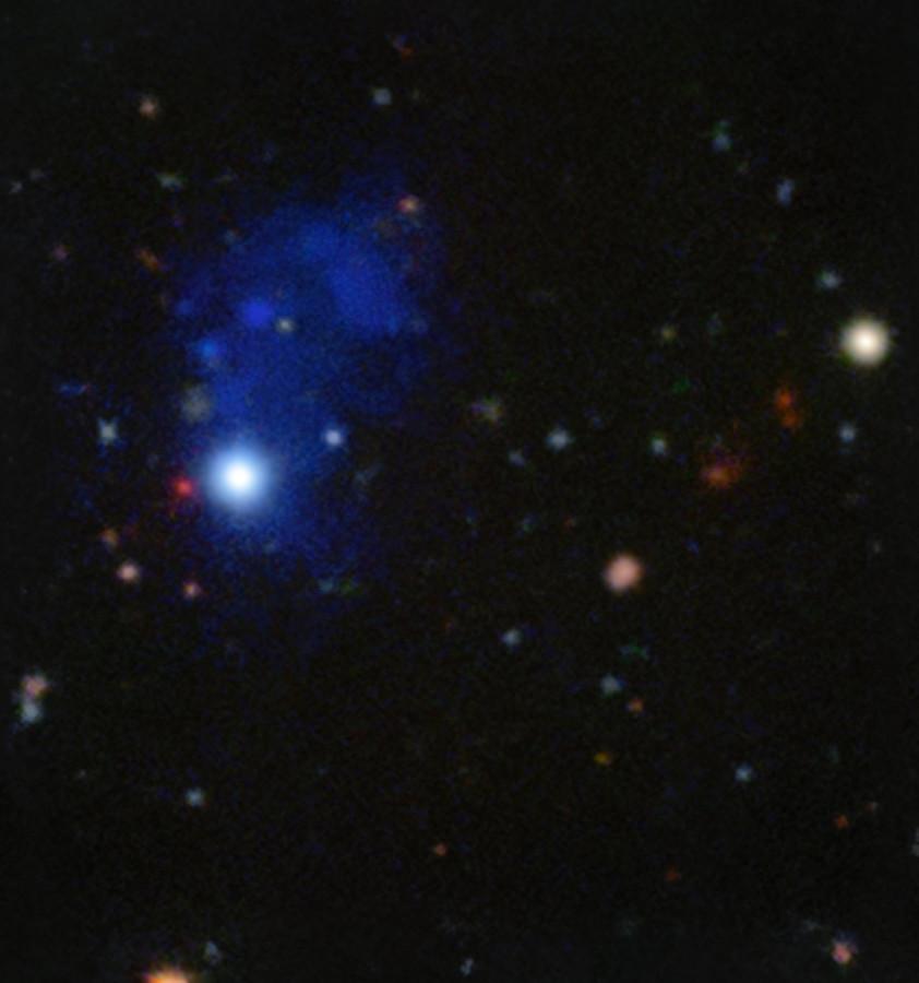 Очень Большой Телескоп сфотографировал гигантскую структуру у далекого квазара