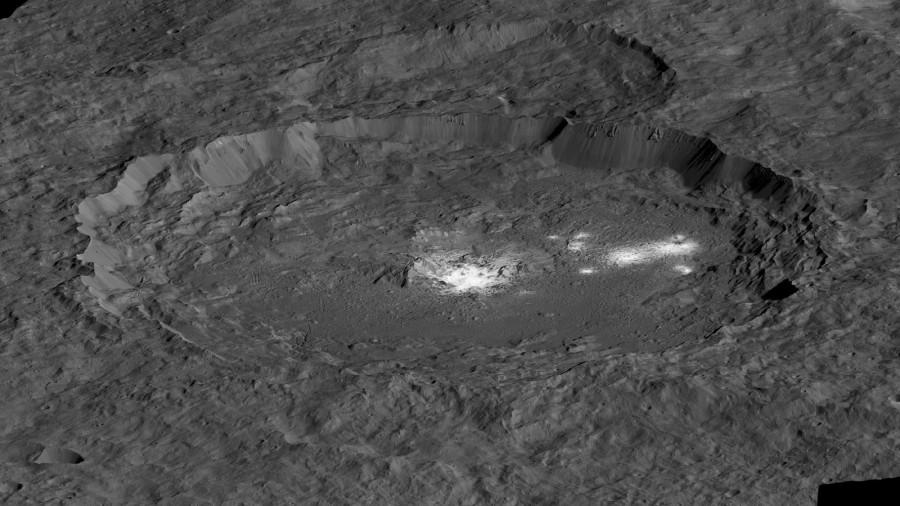 Обнаружены новые следы геологической активности на Церере