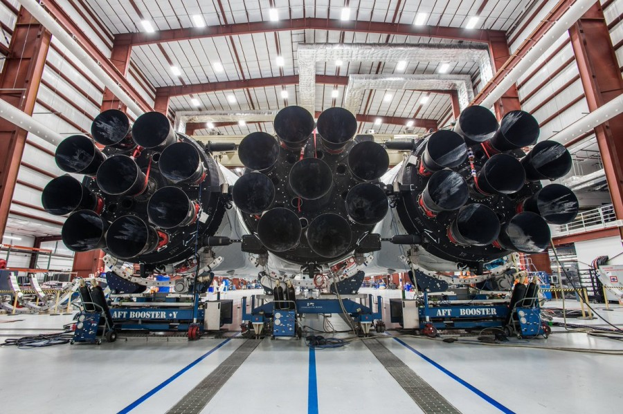 Falcon Heavy на мысе Канаверал