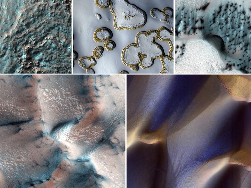 Зимние красоты Марса