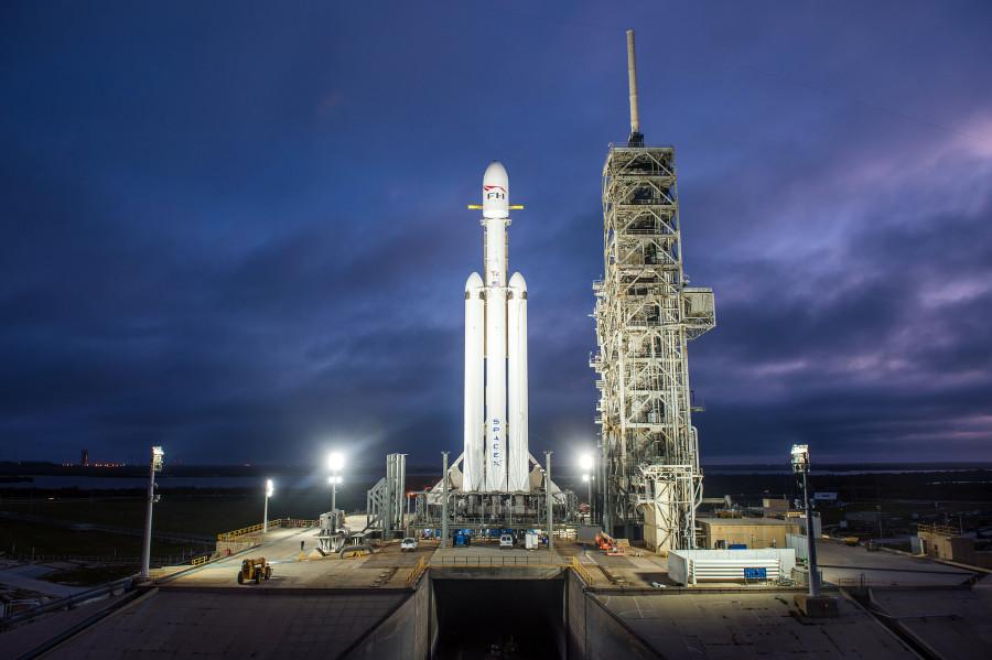 Прямая трансляция запуска Falcon Heavy