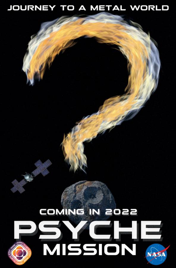 Постеры миссии Psyche Psyche, Также, будет, новую, астероидов, четыре, нейтронные, гамма, также, диапазонах, спектральных, нескольких, работающие, камеры, магнитометры, отправит, включать, начинка, Научная, Марса