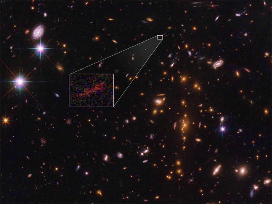 Получено наиболее детальное изображение галактики на краю наблюдаемой Вселенной