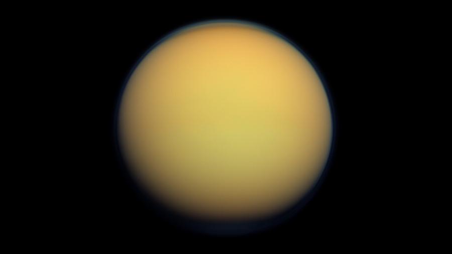 Дымка над северным полюсом Титана