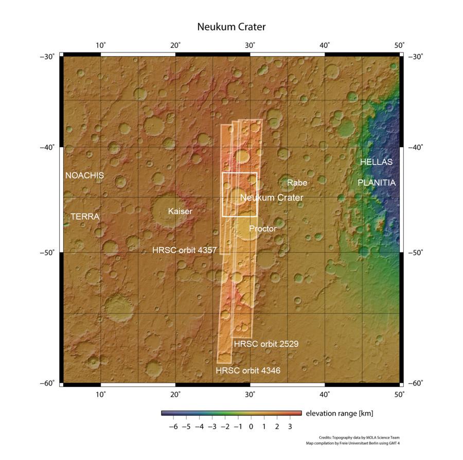 Полет над кратером Нойкум