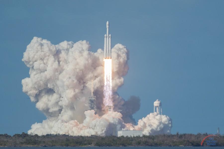 Falcon Heavy отправился в космос орбиту, Falcon, автомобилем, запуска, ступень, Heavy, успешно, ракеты, последний, будет, выполнила, включений, двигателя, поднявших, апогей, орбиты, тысяч, Через, часов, фоточек