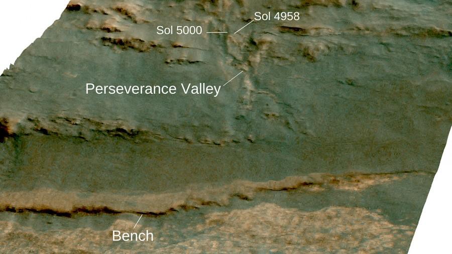 5000 суток на Марсе Opportunity, марсоход, увидеть, можно, работы, снимков, Индевор, Вчера, назад, Всего, изображениях, следующих, склону, миллиарды, кратера, внутреннему, стекавшему, потоком, прорытого, предположительно