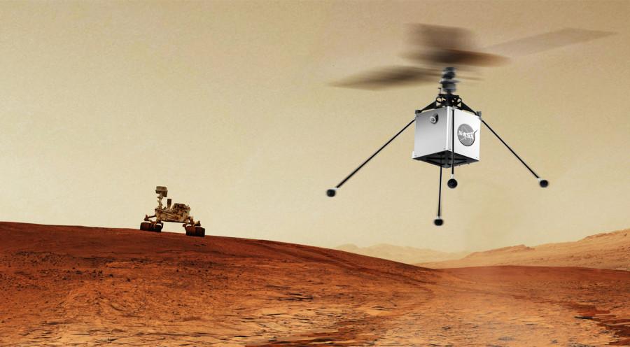 NASA отправит дрон-вертолет на Марс